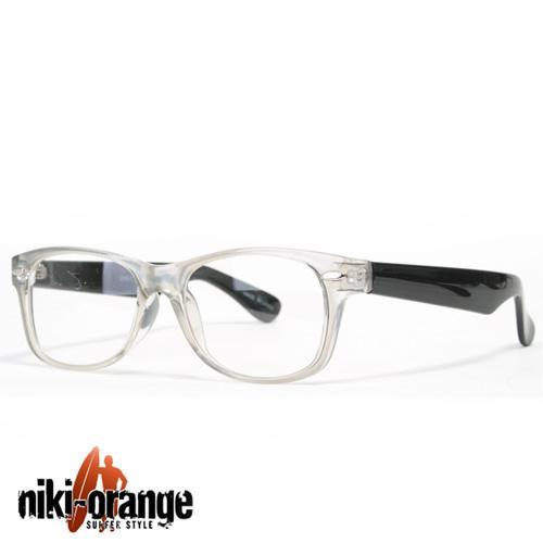 niki orange wayfarer nerdbrille schwarz brille retro ebay. Black Bedroom Furniture Sets. Home Design Ideas